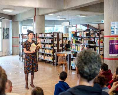Médiathèque du centre - Cachan - Lecture © Perrot